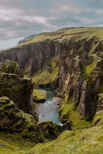 It truly does feel like youre surrounded by magic here Fjarrgljfur Canyon Iceland
