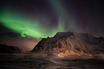 It was a mad scramble back to the States to make sure I wasnt stranded but it was worth it to see the Northern Lights Lofoten Norway