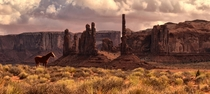 It was a special moment All the John Ford and John Wayne movies of my youth seemed to come alive in front of my lens - Monument Valleys Totem Pole rock Arizona  photo by Jeff Clow