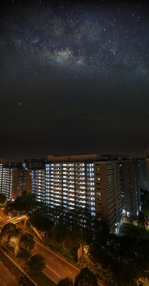 It was finally clear skies in light-polluted cloudy Singapore that I could take this picture of my hood  image stack while propping my camera outside of my apartment window