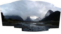 It was raining the last time I went to Milford Sound Album inside