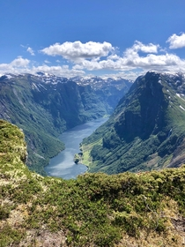 It was worth the hike to have this view down on the Norwegian fjords last year