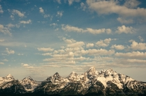 It was worth waking up early after a night sleeping in the car for this view of the Grand Tetons