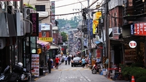 Itaewon area in Seoul South Korea x