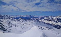 Italian Alps as seen from the Matterhorn Switzerland Unedited  x