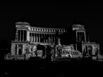 Italian Parliament in the Moonlight - Rome Italy -