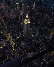 ITAP of the Empire State Building from a doors-off helicopter flight with FlyNYON