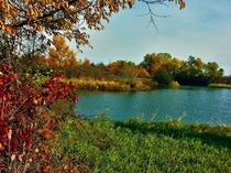 Its a beautiful fall day in Iowa USA