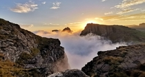 Its always sunny above the clouds Drakensberg South Africa