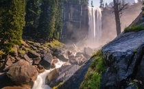 Its called Mist Trail for a reason Vernal Falls Yosemitepjphotoscapes