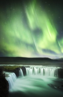 Its easy to see why its called Waterfall of the Gods Goafoss Iceland  tristantodd