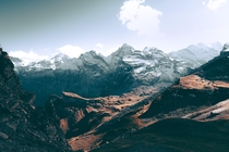 Its easy to see why this part of Switzerland was the inspiration for Lord of the rings Schilthorn Switzerland