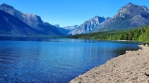 Its hard to get a picture that captures Glacier National Park Mt but i think this is the best one I got x