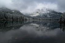 Its June but winter isnt gone in Wyoming yet Cold and peaceful lake in GTNP this last weekend