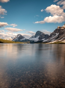 Its Monday morning and Im at work but rather be here Icefields parkway in Banff national park