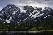 Its moody mountain time in Washington - Mt Shuksan from Picture Lake