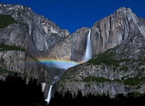Its Moonbow season at Yosemite Falls  Nathan Yan