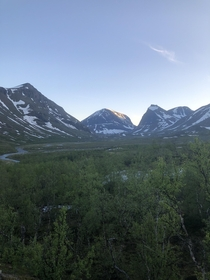 Its my birthday today and Im currently hiking towards Kebnekaise Swedens highest mountain