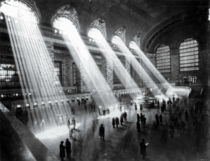 Its not possible to take such a photograph anymore as the buildings outside block the sun rays Grand Central NYC