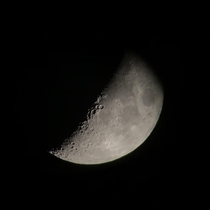 Its not the best quality but heres a picture I took of the moon by putting my phones camera over my telescopes lens