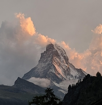 Its officially been  year since I took my favorite picture during a memorable trip Matterhorn at sunset Zermatt Switzerland