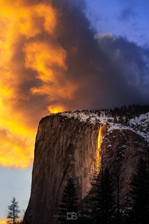 Its that time of year again Here is my best shot of the Firefall natural phenomenon at Yosemite National Park Hope you enjoy  - IG BersonPhotos