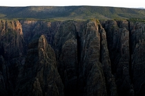 Its tough to capture the immense scale of this place but Black Canyon of the Gunnison in Colorado is a GIANT whole in the ground