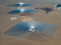 Ivanpah Solar Power Facility in the Mojave Desert California Photo Bernhard Lang