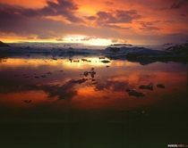 Ive been experimenting with velvia slide film for a little while and I just had my jesus christ moment when I got my sunset images back from the lab Jokulsarlon glacier lagoon Iceland