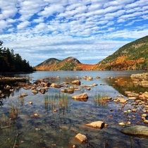 Ive been to  National Parks and this one still holds the number one spot in my heart Acadia National Park last fall for peak foliage xOC