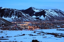 Jackson Wyoming at Dusk