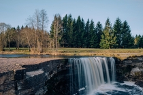 Jagala waterfall in the north of Estonia