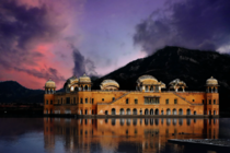 Jal Mahal meaning Water Palace is a palace in the middle of the Man Sagar Lake in Jaipur Rajasthan INDIA It is an architectural showcase of the Rajput style of architecture and built in red sandstone It was built in