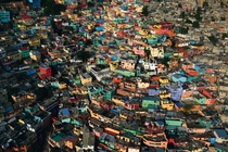 Jalousie a shantytown on the edge of Ptionville a suburb of Port-au-Prince Haiti Yann Arthus-Bertrand