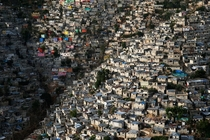 Jalousie slums in Ptionville in the suburbs of Port au Prince Haiti  Photo by Yann-Arthus Bertrand