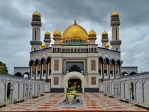 Jame Asr Hassanil Bolkiah Mosque - Bandar Seri Begawan Brunei - Constructed  - The mosque has  golden domes and four minarets with a height of  meters  feet - Considered to be a masterpiece of modern Islamic architecture throughout South Asia