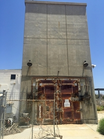 Jamisonic sound reduction door Jet engine test facility Marine Corps Air Station El Toro  OC