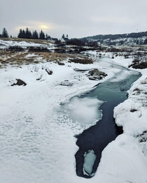 January in ingvellir Iceland