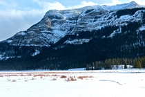 January in the Beartooth Mountains Montana