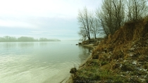 January morning by the river Danube Bratislava Slovak republic x