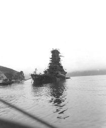 Japanese battleship Haruna months after being sunk at Kure