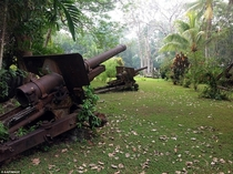 Japanese howitzers on Guadalcanal