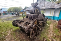 Japanese tank on Pohnpei
