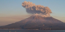 Japans Mt Sakurajima erupted today