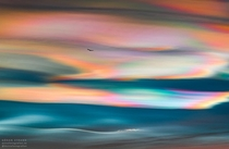Jaw-dropping polar stratospheric clouds above stersund Sweden