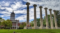 Jesse Hall and the Columns on the Francis Quadrangle of the University of Missouri