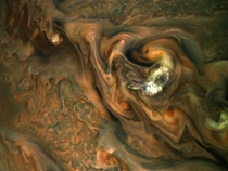 Jet stream N in Jupiters northern hemisphere as seen by the Juno probe
