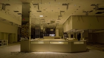 Jewelry kiosk in an abandoned mall circa