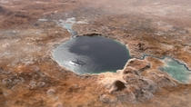 Jezero Crater  the future landing site of the Mars  Perseverance rover  as it may have looked billions of years go when it was a lake Credit NASAJPL-CALTECH