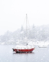 Jindabyne NSW Australia Heavy snow received last night th September